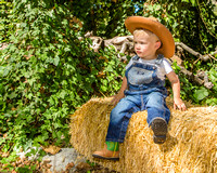 Toddler Cowboy Outdoor Farm Hay Apple Orchard
