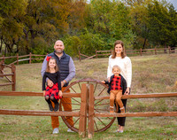 Family-outdoors fence posts/wheel